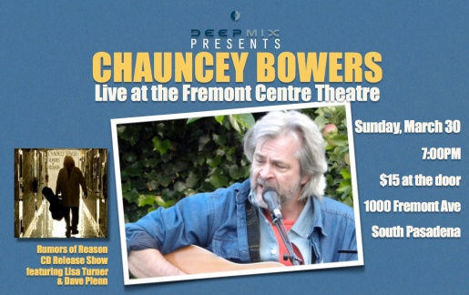 Chauncey CD release flyer DM